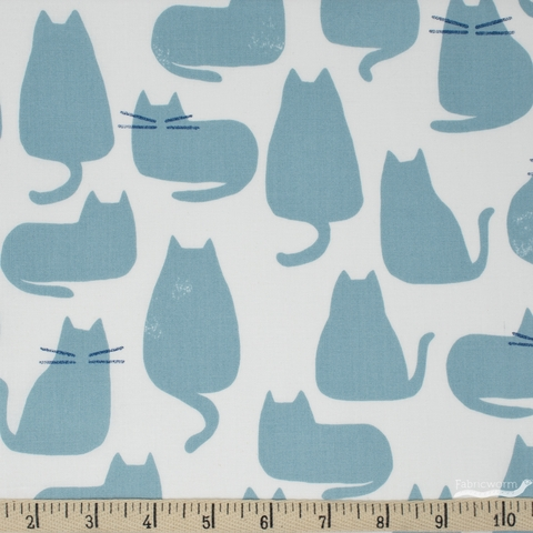 Sarah Golden for Andover, Home, Whiskers Chat Azure