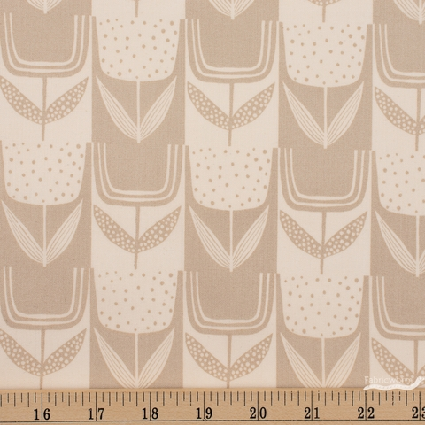 Sarah Golden for Andover, Perennial, Patchwork Tulips Bone