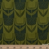Sarah Golden for Andover, Perennial, Patchwork Tulips Olive