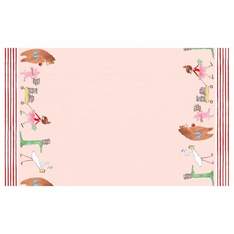 "Sarah Jane for Michael Miller, Lola Dutch, Lola Dutch Parade Double Border Pink (36"" Panel)"