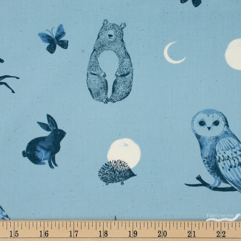 Sarah Watts for Ruby Star Society, Crescent, Forest Dot Soft Blue