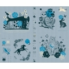 "Sarah Watts for Ruby Star Society, Crescent, Forest Soft Blue (36"" Panel)"