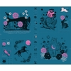 "Sarah Watts for Ruby Star Society, Crescent, Forest Teal (36"" Panel)"