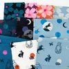 Sarah Watts for Ruby Star Society, Crescent, Night Bloom Soft Blue