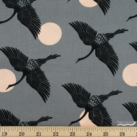 Sarah Watts for Ruby Star Society, Florida, Egrets Slate Grey