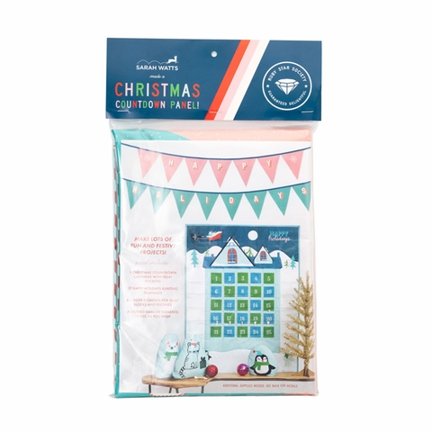 Sarah Watts for Ruby Star Society, Peppermint Please Countdown Packaged Panel