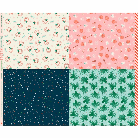 """Sarah Watts for Ruby Star Society, Peppermint Please Wrap (35"""" Panel)"""