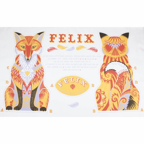 Sarah Young, Tea Towel Plushies, Felix the Fox