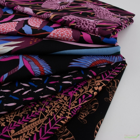 Sasha Ignatiadou for Ruby Star Society, Airflow, Floral Tapis Metallic Black