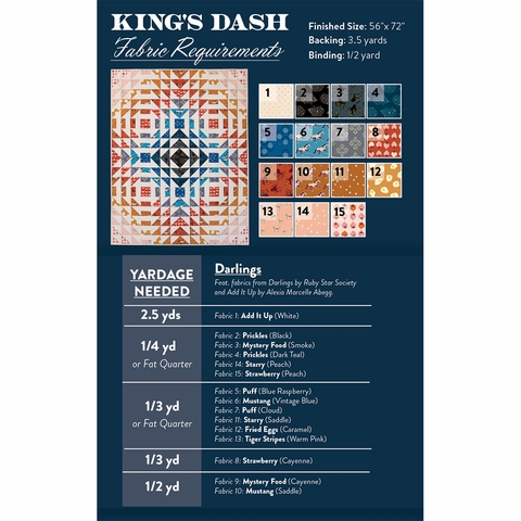 Satterwhite Quilts, Sewing Pattern, King's Dash Quilt