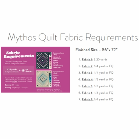Satterwhite Quilts, Sewing Pattern, Mythos Quilt