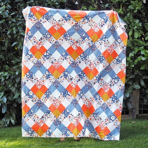 Seeing Double Quilt Kit Featuring Bella Lawn by Then Came June