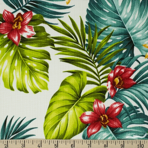 Sevenberry for Robert Kaufman, BARKCLOTH, Stylish Aloha Bright