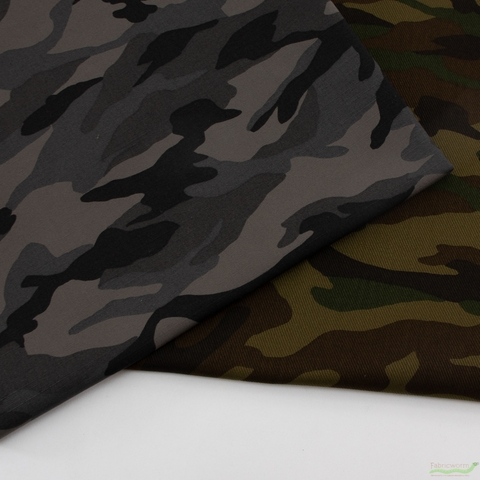 Sevenberry for Robert Kaufman, Camouflage Charcoal