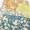 Sevenberry For Robert Kaufman, Cotton Flax Prints, Busy Birds Grey