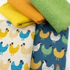 Sevenberry for Robert Kaufman, Cotton Flax Prints, Cluck Country