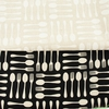 Sevenberry For Robert Kaufman, Cotton Flax Prints, Spoons and Forks Natural