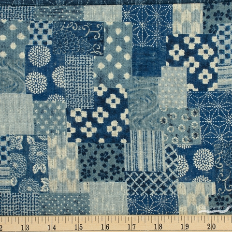 Sevenberry for Robert Kaufman, Nara Homespun, Patched Denim