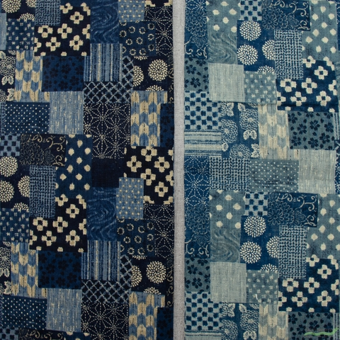 Sevenberry for Robert Kaufman, Nara Homespun, Patched Indigo