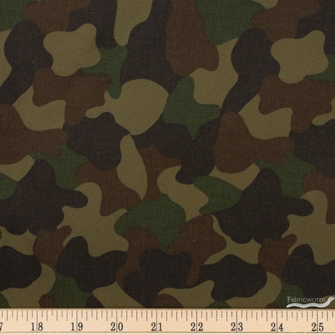 Sevenberry for Robert Kaufman, Twill Woodland Camouflage Olive