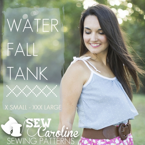 Sew Caroline, Sewing Pattern, Waterfall Tank