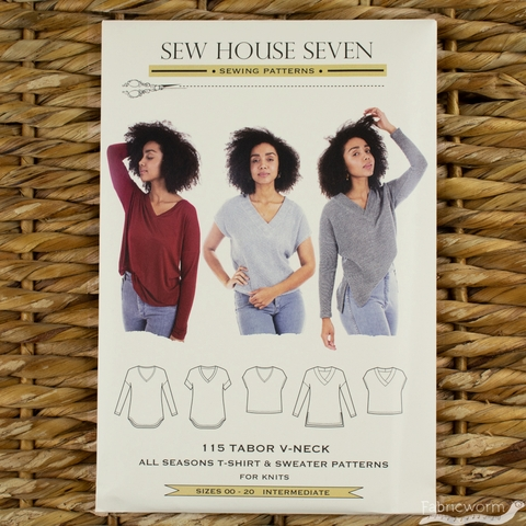 Sew House Seven, Sewing Patterns, Tabor V-Neck