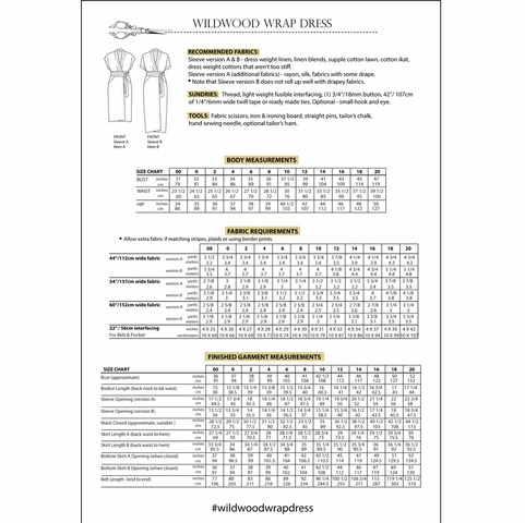Sew House Seven, Sewing Patterns, Wildwood Wrap Dress