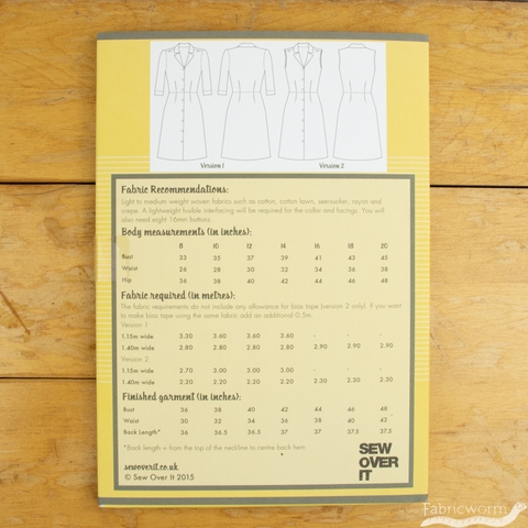 Sew Over It, Sewing Patterns, Vintage Shirt Dress