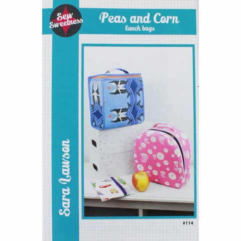 Sew Sweetness, Sewing Pattern, Peas and Corn Lunch Bags