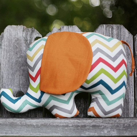 Sewing Tutorial & Free Pattern|Henry & Helga Elephant Softies by Christina McKinney