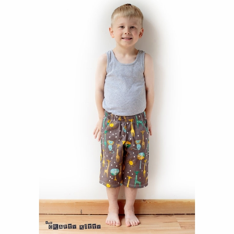 Sewing Tutorial & Free Pattern   Kid's Knit Shorts by The Crafty Kitty