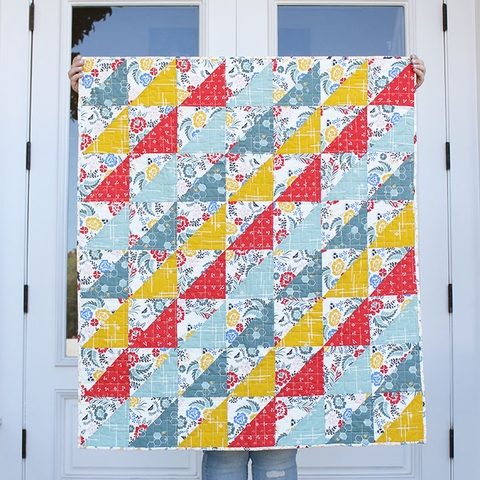 Sewing Tutorial & Free Pattern | Merry Necessities Quilt from Birch Fabrics