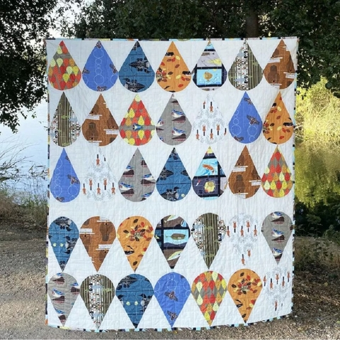 Sewing Tutorial & Free Pattern | Octoberama Leaf Block Quilt from Birch Fabrics by Arleen Hillyer