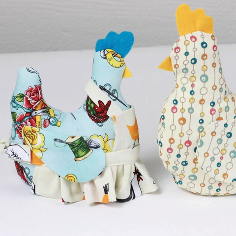 Sewing Tutorial|Miss Bobbins the Fabricworm Chicken by Melissa Bailey