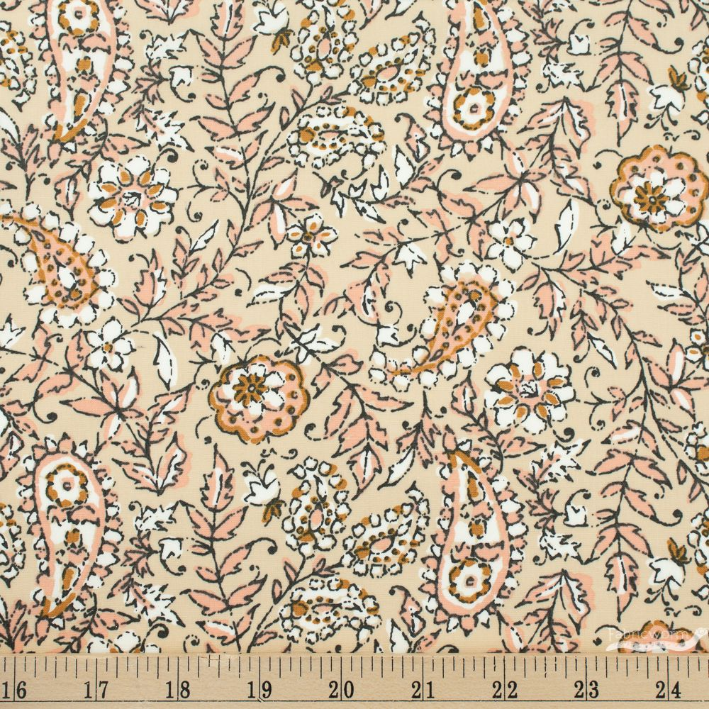 Kismet by Sharon Holland for Art Gallery Fabrics India Ink Parchment