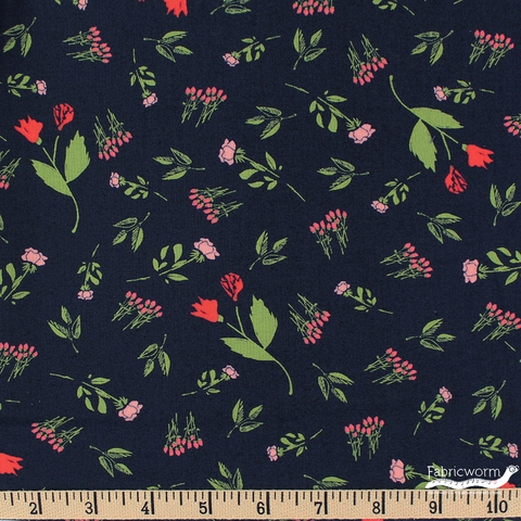 Sherri & Chelsi for Moda, The Front Porch, Rose Bed Navy