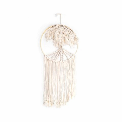 Solid Oak Inc. Macrame Kit, Palm Tree Hoop Wall Hanger