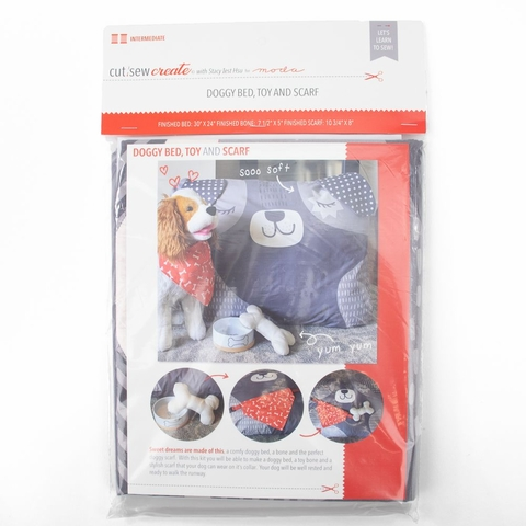 Stacy Iest Hsu for Moda, Cut Sew Create, Doggy Bed, Toy and Scarf Project Panel