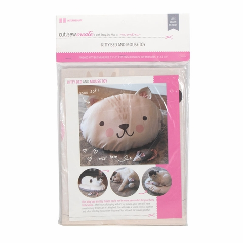 Stacy Iest Hsu for Moda, Cut Sew Create, Kitty Bed and Mouse Toy Project Panel
