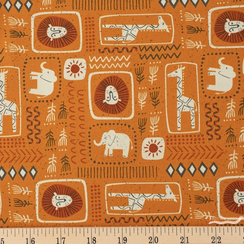 Stacy Iest Hsu for Moda, Safari Life, African Block Print Amber