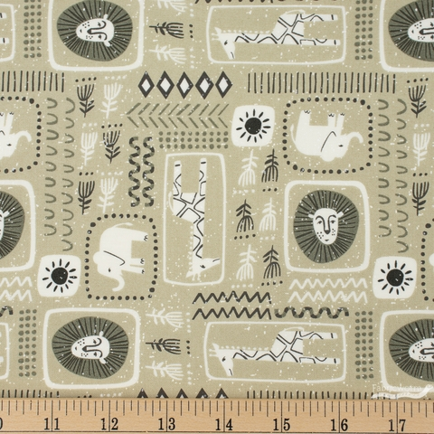 Stacy Iest Hsu for Moda, Safari Life, African Block Print Khaki