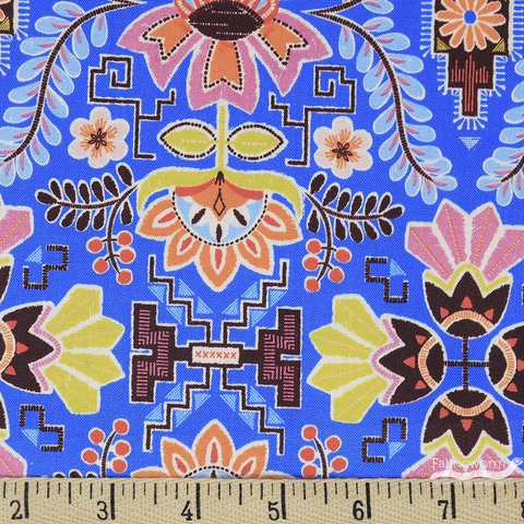 Stacy Peterson for Blend, Fiesta, Peruvian Rose Blue