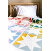 Stars Hollow Quilt by Suzy Quilts Kit Featuring Birch Organic Solids (PRECUT)