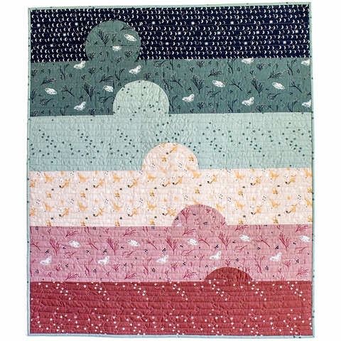 Sunset Bliss Quilt Kit by XOXSEW Featuring Birch Organic Dreamer