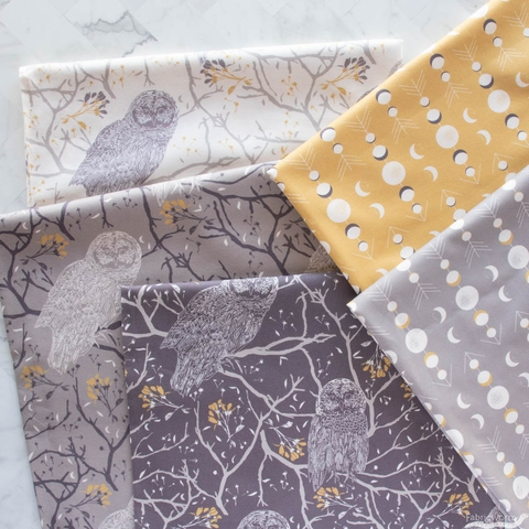Sweetfire Road for Moda, Through the Woods, Precut HALF YARDS 10 Total