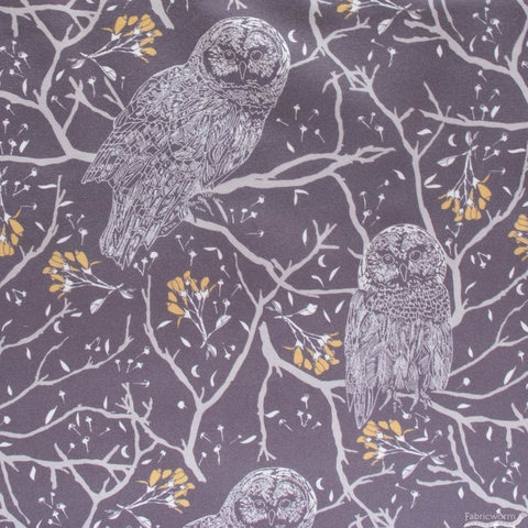Sweetfire Road for Moda, Through the Woods, Woodland Owls Charcoal