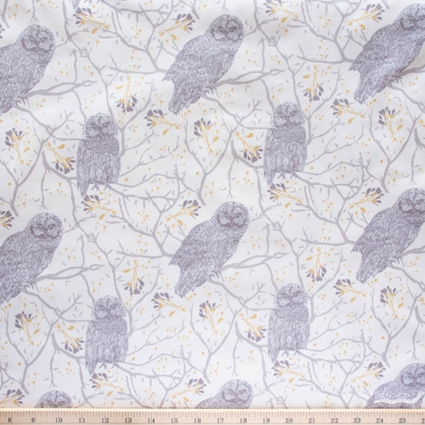 Sweetfire Road for Moda, Through the Woods, Woodland Owls Ivory