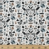 Sylvia Takken for Cotton and Steel, In Bloom, Floral Garden Pebble