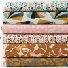 Sylvia Takken for Cotton and Steel, In Bloom, Ochre in FAT QUARTERS 6 Total (PRECUT)