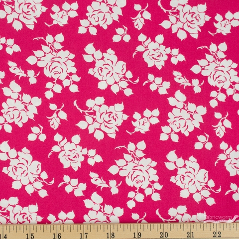 Tanya Whelan for Clothworks, Janey, Roses Pink